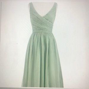 J. Crew Heidi Silk Chiffon Dress